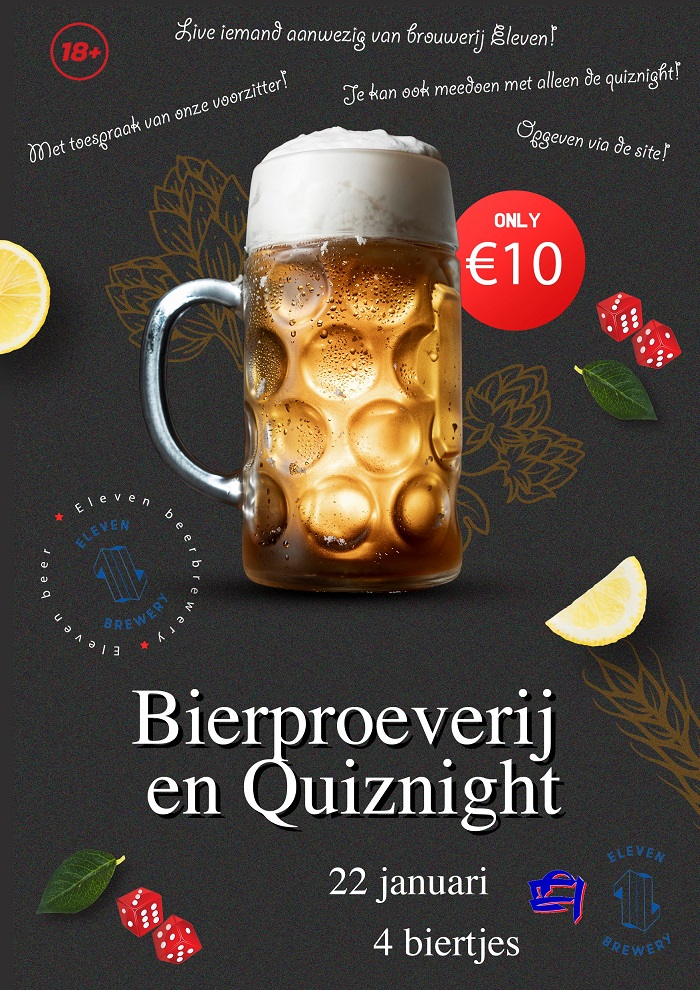 Bierproeverij en quiz night (online)